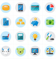 Flat Icons For Finance Icons and Business Icons vector image vector image