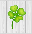 four leaf clover on st patrick s day vector image vector image