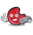 gamer candy moon mascot cartoon vector image
