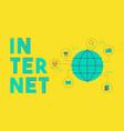 global internet social media network concept vector image vector image