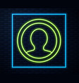 glowing neon line create account screen icon