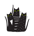 group of black cats sitting vector image