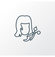 haircut icon line symbol premium quality isolated vector image vector image