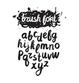 handwritten brush alphabet on grunge background vector image