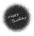 happy birthday inscription on the burst in style vector image vector image