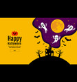 happy halloween scary night backgrounds vector image vector image