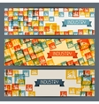 Industrial factory buildings horizontal banners vector image