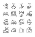 industrial process icon set vector image vector image
