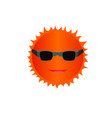 isolated summer smile sun icon vector image vector image