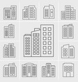 line building icons set vector image vector image