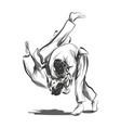 line sketch fighting judo vector image