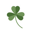 lucky clover isolated on white background vector image vector image