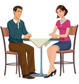 Man and Woman at the table vector image