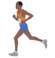marathon runnerdetailed vector image vector image
