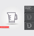 measuring cup line icon with editable stroke with vector image vector image