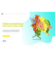 merry christmas and happy new year presents elf vector image vector image