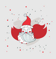 merry christmas happy new year santa claus vector image vector image