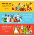 New Year Web Horizontal Banners vector image vector image
