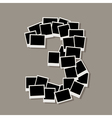 Number Three Photos vector image vector image