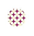 Purple stars sign pattern vector image vector image