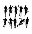 runner silhouettes vector image