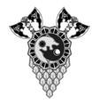 scandinavian tattoo 0015 vector image vector image