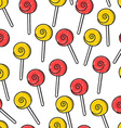Seamless doodle pattern with bright candy handmade vector image vector image