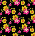 Seamless floral pattern with tropical flowers vector image vector image