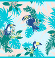 seamless pattern ink hand drawn tropical palm vector image vector image