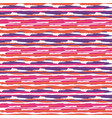 seamless pattern with brush stripes pink vector image vector image
