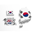 south korea 3d vector image vector image