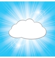 sun behind the cloud vector image