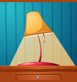 table lamp is on the table wall-papers in the vector image vector image