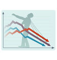 The economic collapse vector image