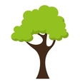 tree landscape field isolated icon vector image