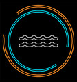 water wave river vector image