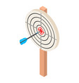 white darts target icon isometric style vector image