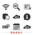 wifi wireless network icons wi-fi speech bubble vector image vector image