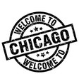 welcome to chicago black stamp vector image