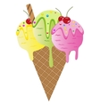 Set of colorful tasty isolated ice cream vector image