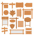 wooden signages set vector image