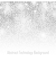 Abstract Gray Technology Glow Background vector image vector image