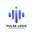 abstract modern pulse logo vector image