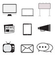advertisement icons set in trendy flat style on vector image vector image