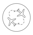 Airplanes line icon vector image vector image