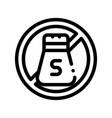 allergen free spice salt thin line icon vector image vector image