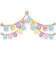 baby pennants party vector image