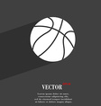Basketball symbol Flat modern web design with long vector image vector image