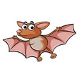 bat with happy face vector image