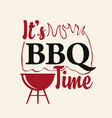 bbq banner with decorative barbecue grill and fire vector image